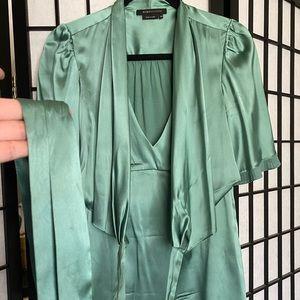 Jade green blouse by BCBG